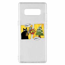 Чехол для Samsung Note 8 Cat with a saw