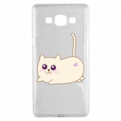 Чехол для Samsung A5 2015 Cat with a smile