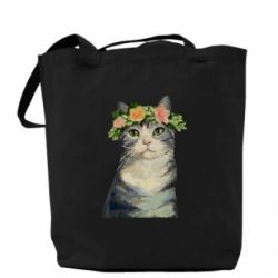 Сумка Cat with a wreath of art oil