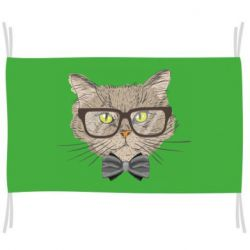 Прапор Cat with glasses