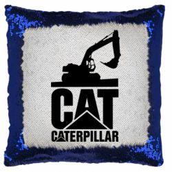 Подушка-хамелеон Caterpillar cat
