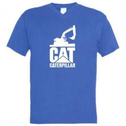 Чоловіча футболка з V-подібним вирізом Caterpillar cat