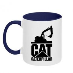 Кружка двоколірна 320ml Caterpillar cat