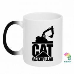 Кружка-хамелеон Caterpillar cat