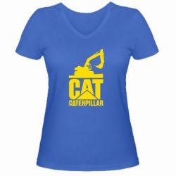 Жіноча футболка з V-подібним вирізом Caterpillar cat