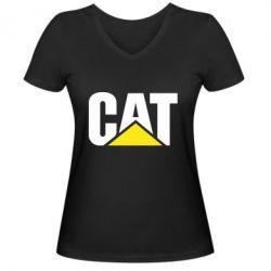 Жіноча футболка з V-подібним вирізом Caterpillar