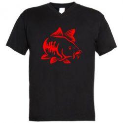 Чоловіча футболка з V-подібним вирізом Catfish