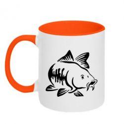 Кружка двоколірна 320ml Catfish