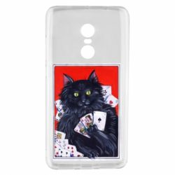 Чохол для Xiaomi Redmi Note 4 Cats and gambling cards