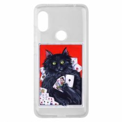 Чохол для Xiaomi Redmi Note Pro 6 Cats and gambling cards