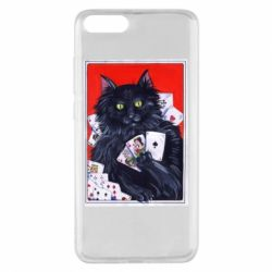Чохол для Xiaomi Mi Note 3 Cats and gambling cards
