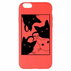 Чехол для iPhone 6 Plus/6S Plus Cats are watching