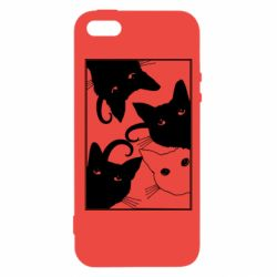 Чехол для iPhone5/5S/SE Cats are watching