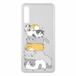 Чохол для Samsung A7 2018 Cats