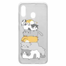 Чохол для Samsung A20 Cats