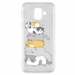 Чохол для Samsung A6 2018 Cats