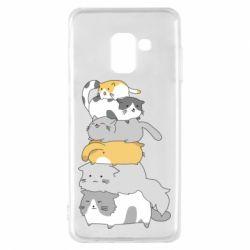 Чохол для Samsung A8 2018 Cats