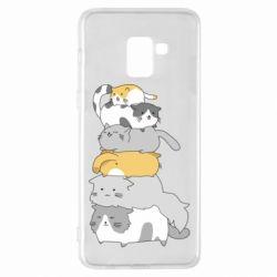 Чохол для Samsung A8+ 2018 Cats