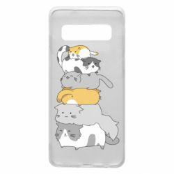 Чохол для Samsung S10 Cats
