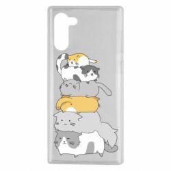 Чохол для Samsung Note 10 Cats