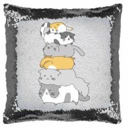 Подушка-хамелеон Cats