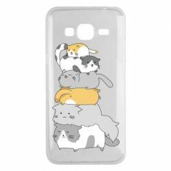 Чохол для Samsung J3 2016 Cats