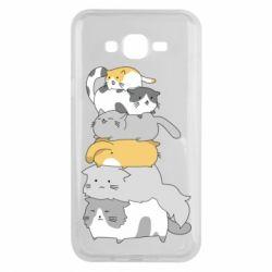 Чохол для Samsung J7 2015 Cats