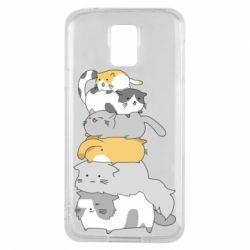 Чохол для Samsung S5 Cats