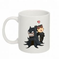 Кружка 320ml Catwoman and Angry Batman - FatLine