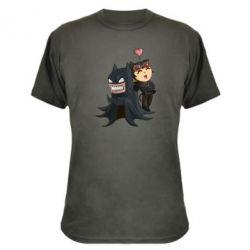 Камуфляжная футболка Catwoman and Angry Batman - FatLine