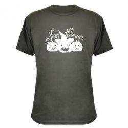 Камуфляжная футболка Cчастливого Хэллоуина - FatLine