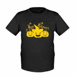 Детская футболка Cчастливого Хэллоуина - FatLine