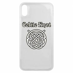 Чохол для iPhone Xs Max Celtic knot black and white