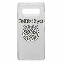 Чохол для Samsung S10+ Celtic knot black and white