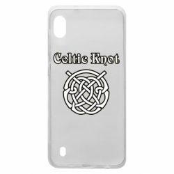 Чохол для Samsung A10 Celtic knot black and white