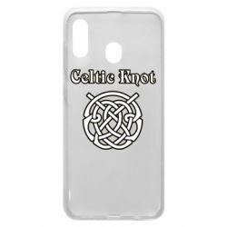 Чохол для Samsung A20 Celtic knot black and white