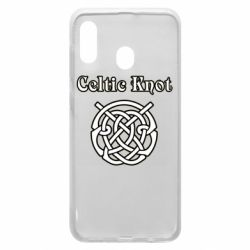 Чохол для Samsung A30 Celtic knot black and white