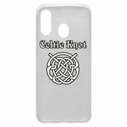 Чохол для Samsung A40 Celtic knot black and white