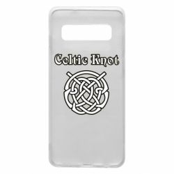 Чохол для Samsung S10 Celtic knot black and white