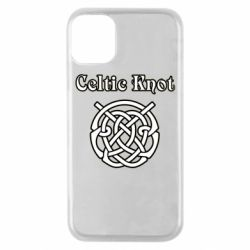 Чохол для iPhone 11 Pro Celtic knot black and white