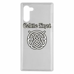 Чохол для Samsung Note 10 Celtic knot black and white