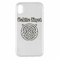 Чохол для iPhone X/Xs Celtic knot black and white