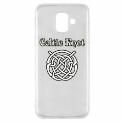 Чохол для Samsung A6 2018 Celtic knot black and white