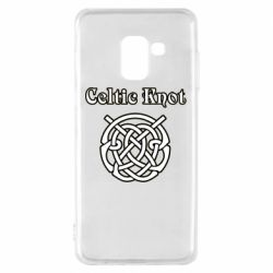 Чохол для Samsung A8 2018 Celtic knot black and white