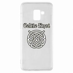 Чохол для Samsung A8+ 2018 Celtic knot black and white