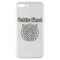 Чохол для iPhone 8 Plus Celtic knot black and white