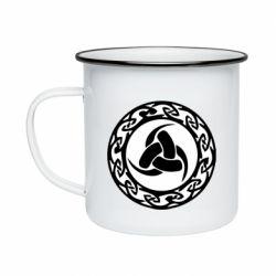 Кружка емальована Celtic knot circle