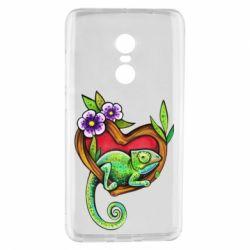 Чехол для Xiaomi Redmi Note 4 Chameleon on a branch