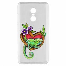 Чехол для Xiaomi Redmi Note 4x Chameleon on a branch