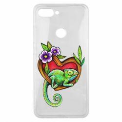 Чохол для Xiaomi Mi8 Lite Chameleon on a branch